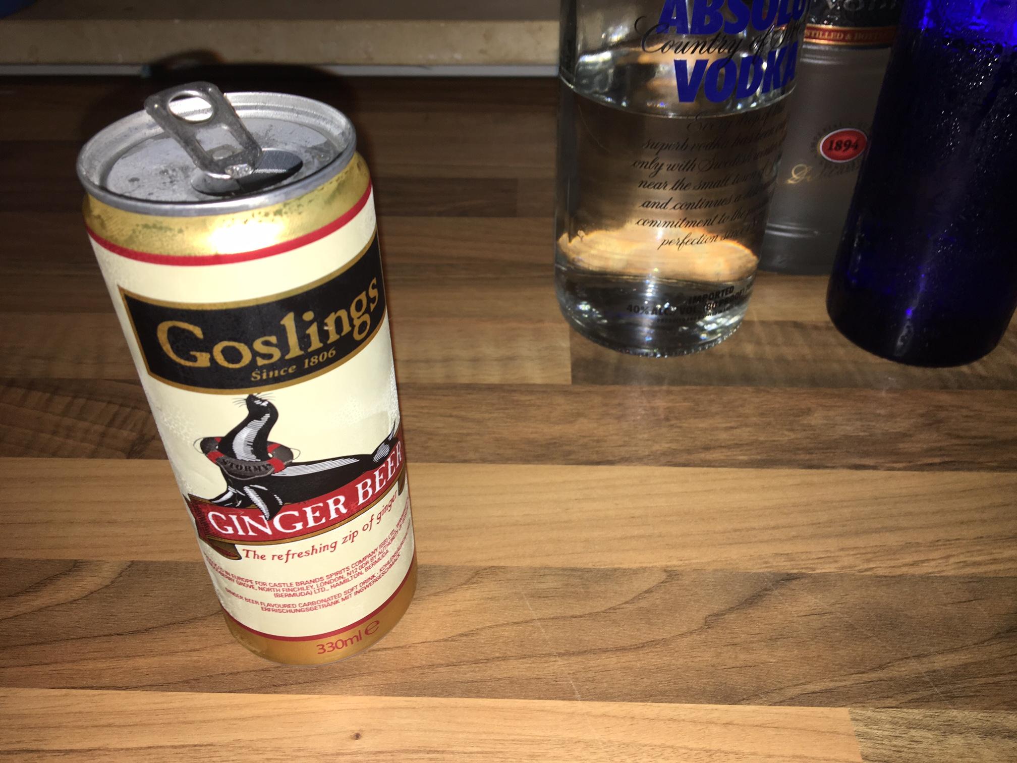 Goslings Ginger Beer in der Dose.