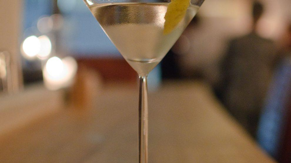 """Der """"The Rock""""-Martini mit hauseigenem Vodrock Vodka."""
