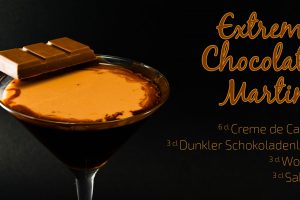Der Extreme Chocolate Martini ist der ultimative Dessert-Cocktail.