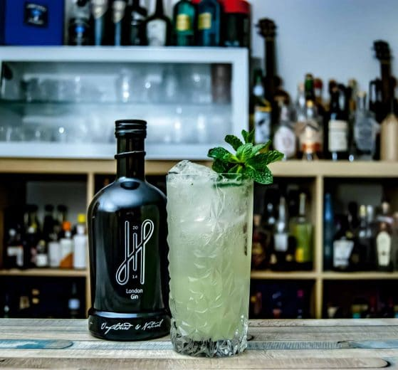 Hoos London Gin im Gin Gin Mule Cocktail.