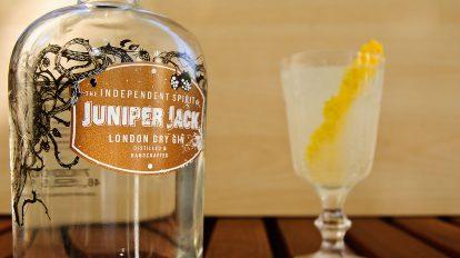 Juniper Jack London Dry Gin in einem Gin Fizz - in Shortdrinks kommt er am besten zur Geltung.