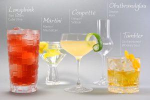 Die Cocktailgläser aus diesem Bild stammen alle von Spiegelau und Nachtmann und sind im zugehörigen Shop online verfügbar.