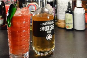 Smokecraft Vodka macht sich in vielen Cocktails gut - hier zum Beispiel in einer Bloody Mary.