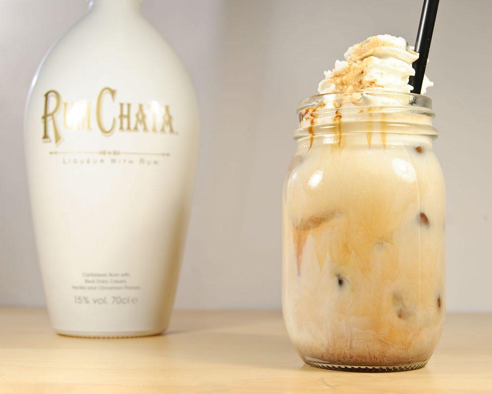 RumChata in einem Milschshake aus Milch, Schokoladen-Likör und eben RumChata.