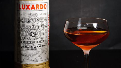 Luxardo Maraschino im Martinez-Cocktail.