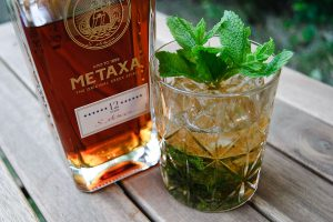 Metaxa 12 Stars in einem Metaxa Mint Julep.