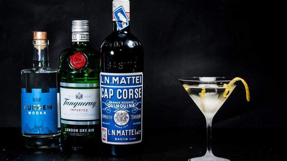 Cap Mattei Blanc in einem Vesper Martini.