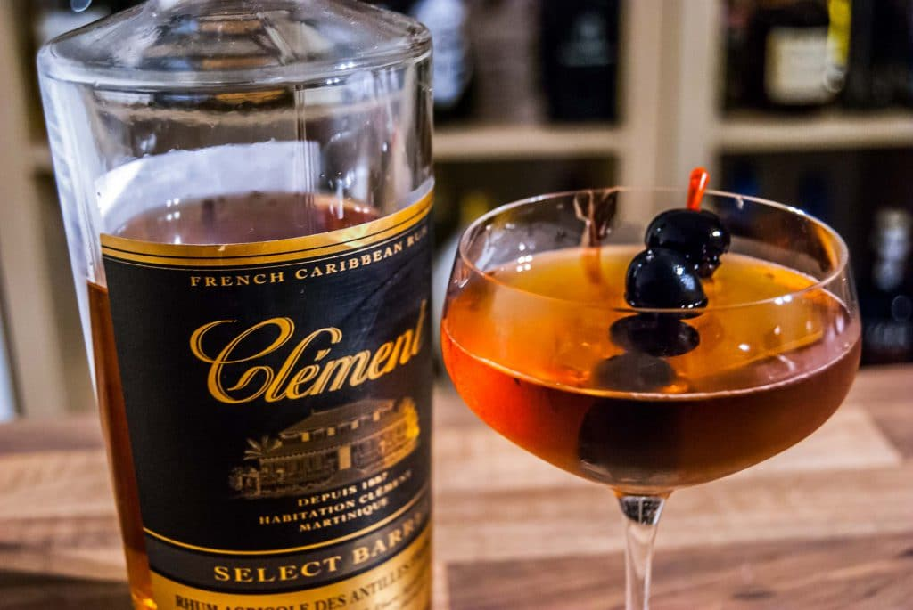 Der Clement Rhum Agricole Select Barrel im Red Gibson.