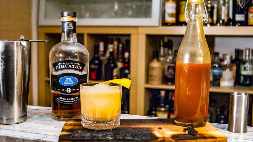 Salted Caramel Whiskey Sour mit Cihuatan 8.