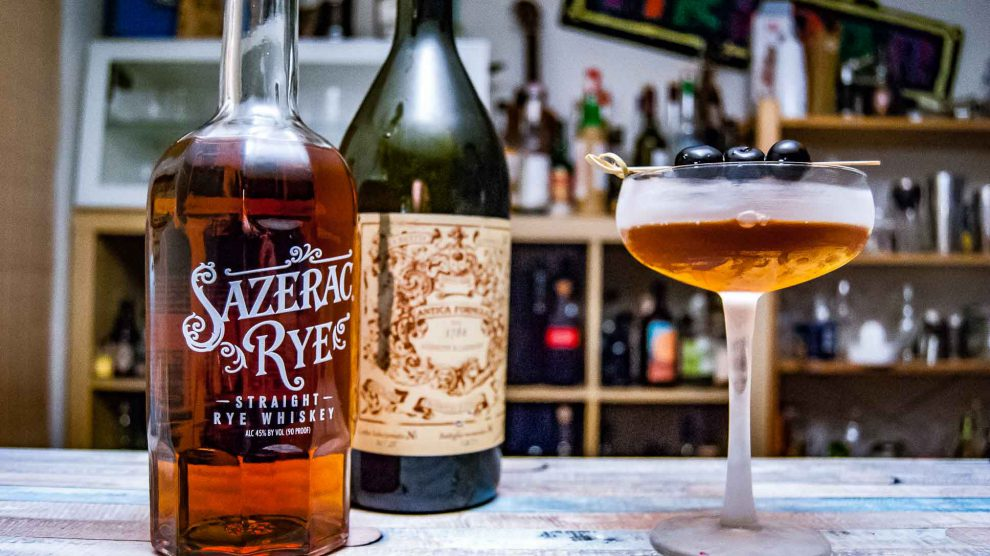 Der Sazerac Rye Whiskey im Manhattan Cocktail.