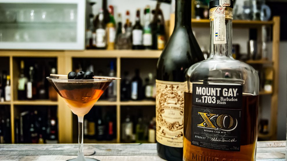 Mount Gay XO Rum im Rum Manhattan mit Carpano Antica Formula.