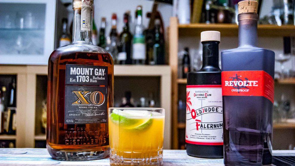 Mount Gay XO Rum im Ranglum mit Old Judge Falernum und Revolte Overproof.