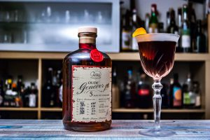 Der Zuidam Oude Genever 5 Jahre in einem Martinez Cocktail.
