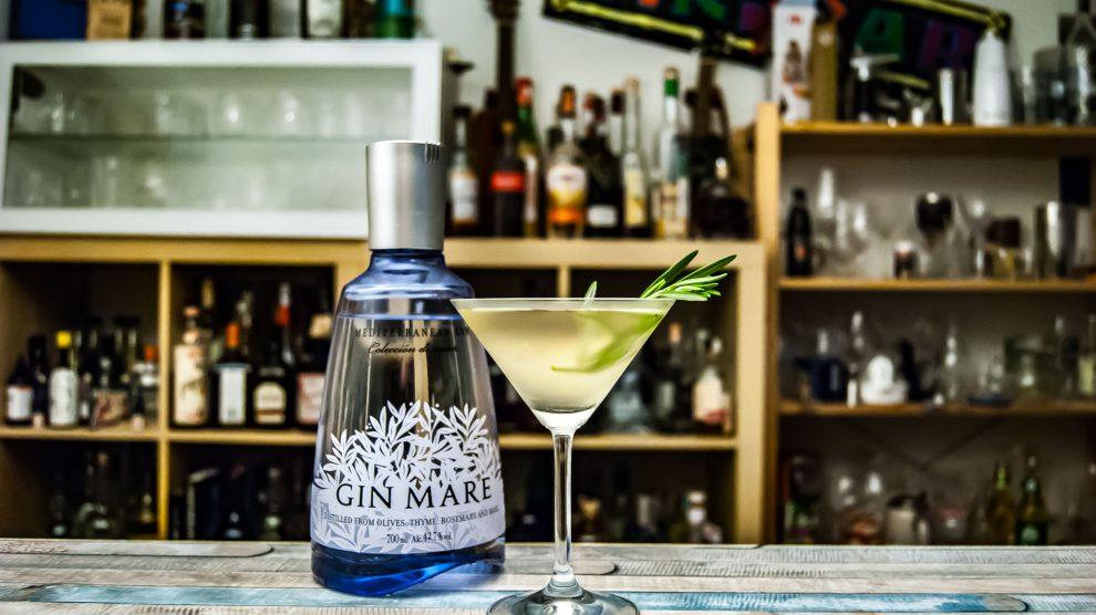 Der Gin Mare funktioniert toll im Martini.