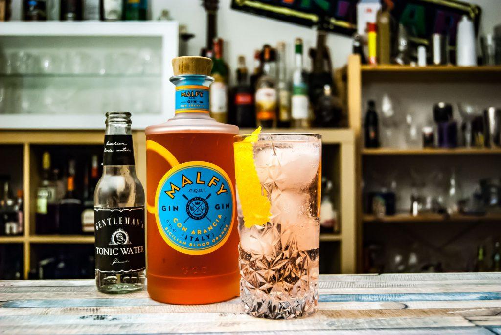 Malfy Gin con Arancia im Gin Tonic.