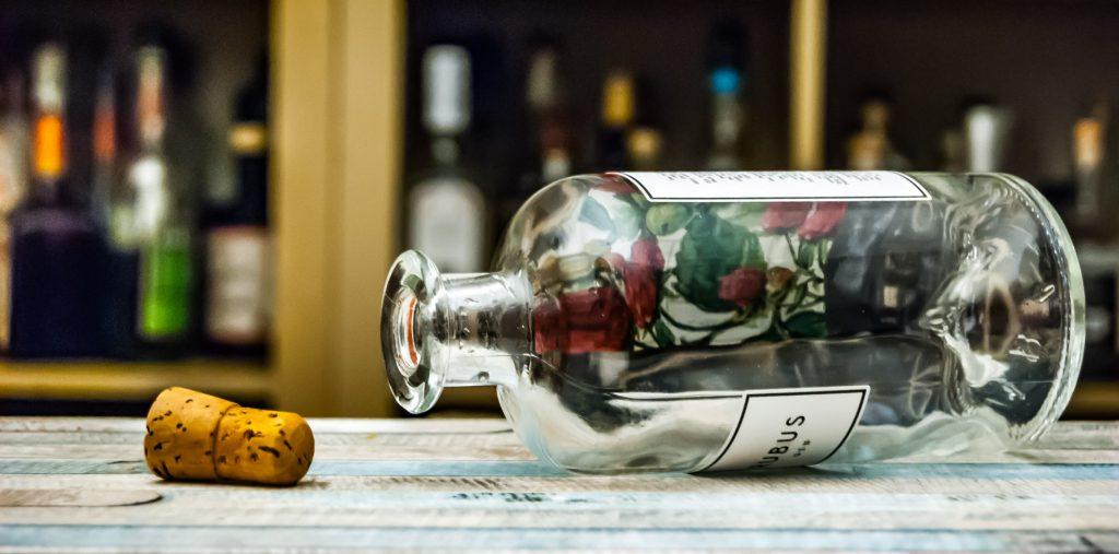 Für das Rubus-Tasting haben wir die Flasche einmal komplett weggemacht.