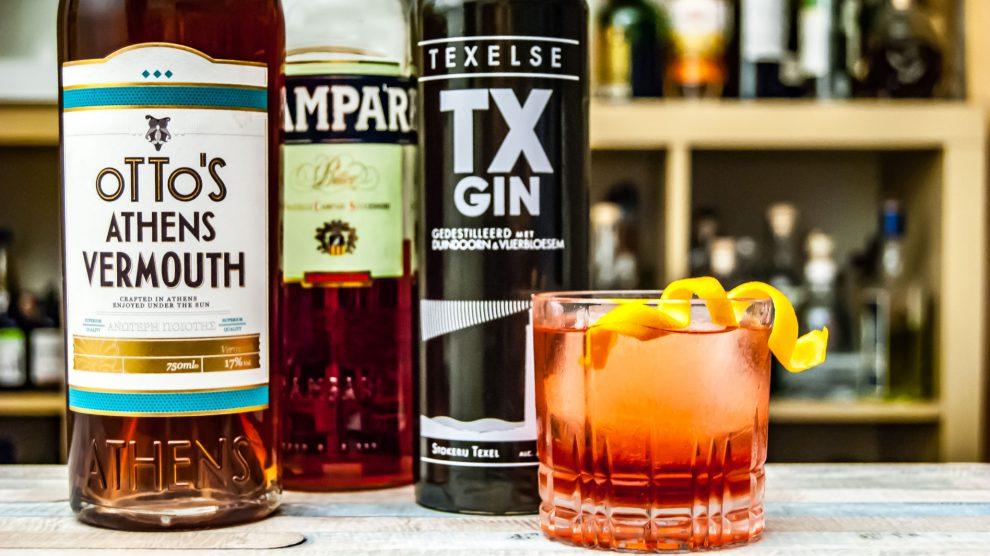 TX Gin in einem Negroni.