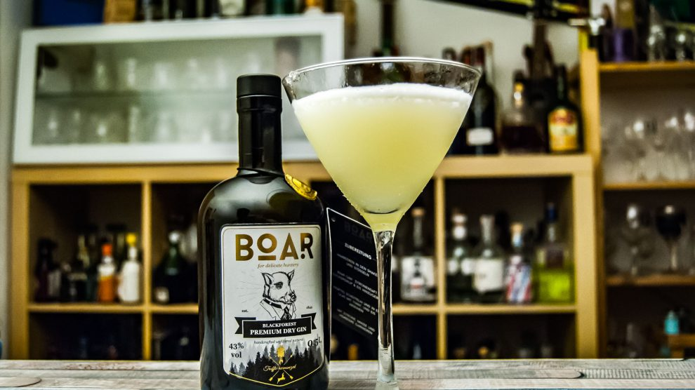 Boar Gin in einem White Lady Cocktail.
