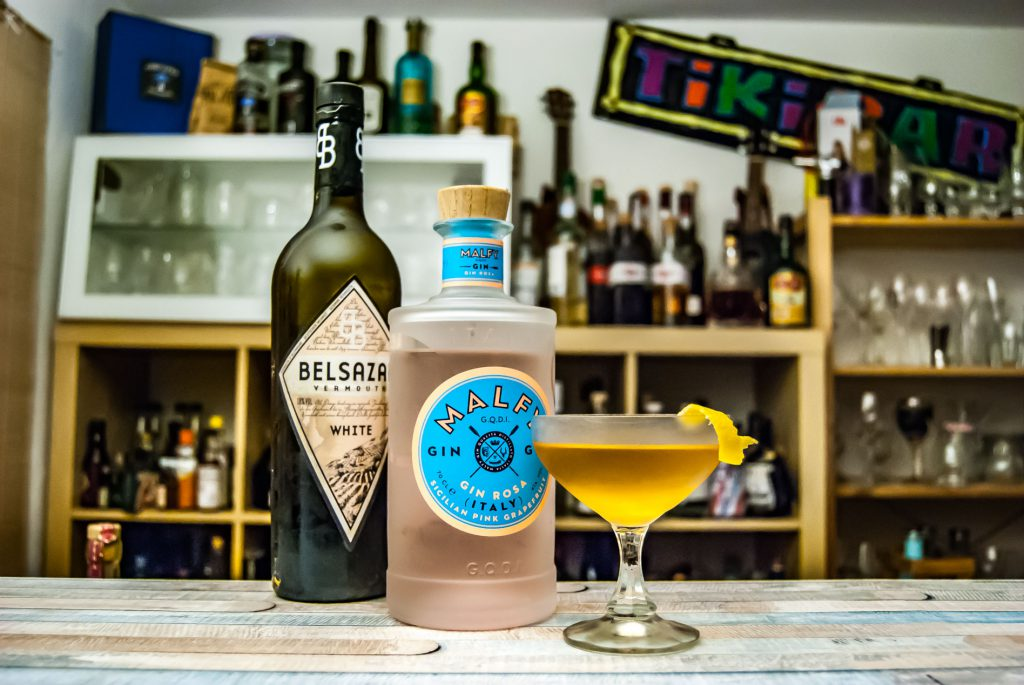 Malfy Gin rosa im Fifty-Fifty-Martini.