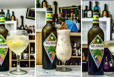 Die Belsazar Summer Edition als Gin Tonic, Colada und Martini.