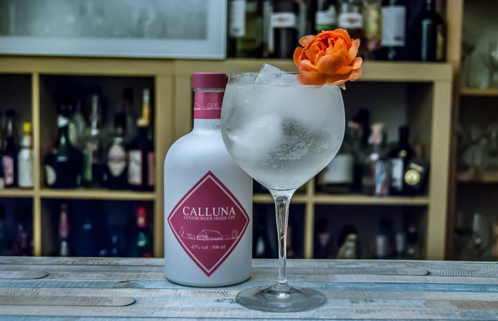 Calluna Lüneburger Heide Gin im Gin Tonic.