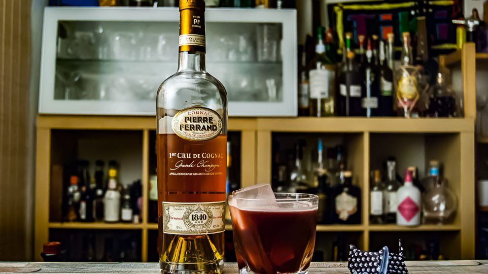 Ferrand Cognac 11840 im Chat Noir mit Kirschlikör und Chinato.