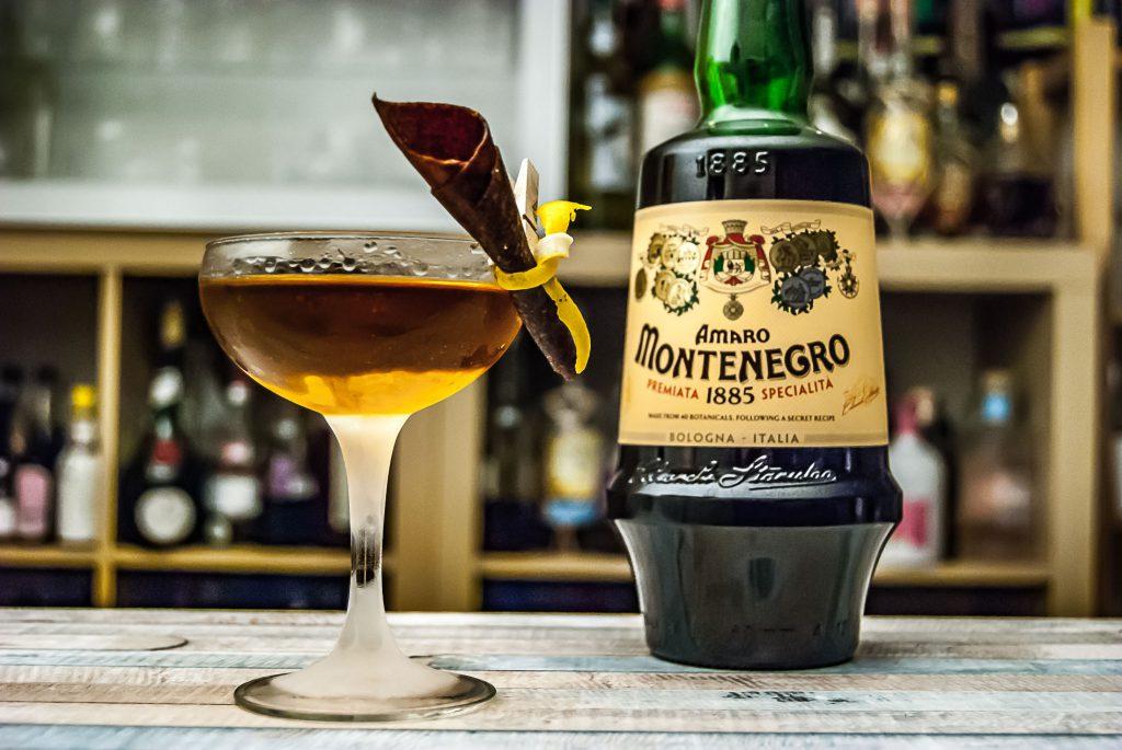 Amaro Montenegro im Norditerranean Cocktail mit Köm.