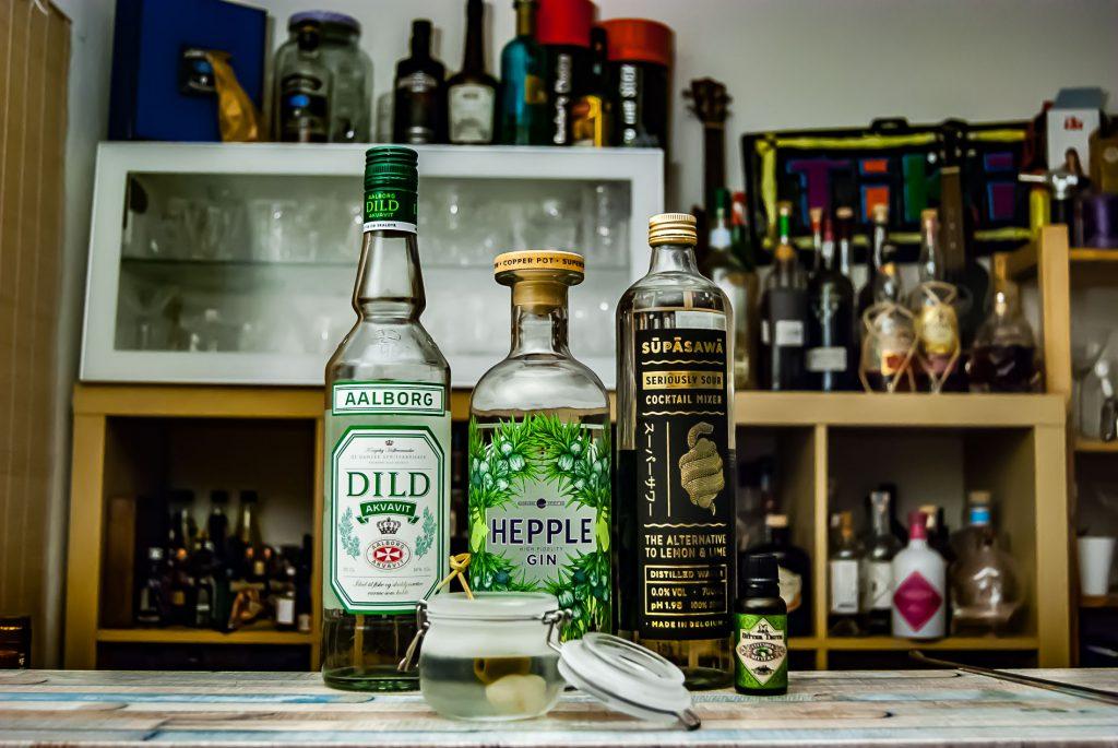 Im Picklejar vereinen sich Dild Aquvit, Hepple, Supasawa, Gurke, nochmal Gurke, Olive und Silberzwiebel. Geil, oder?