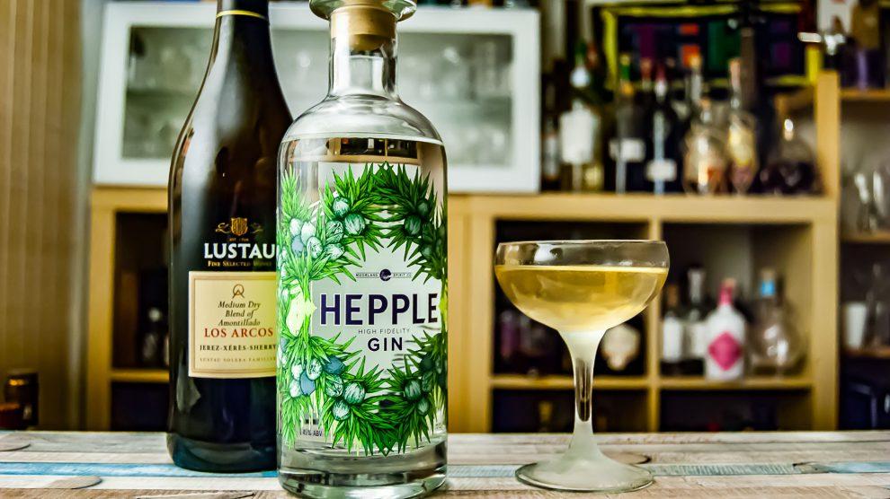 Hepple Gin im Valencia Martini mit Dry Sherry statt Wermut.