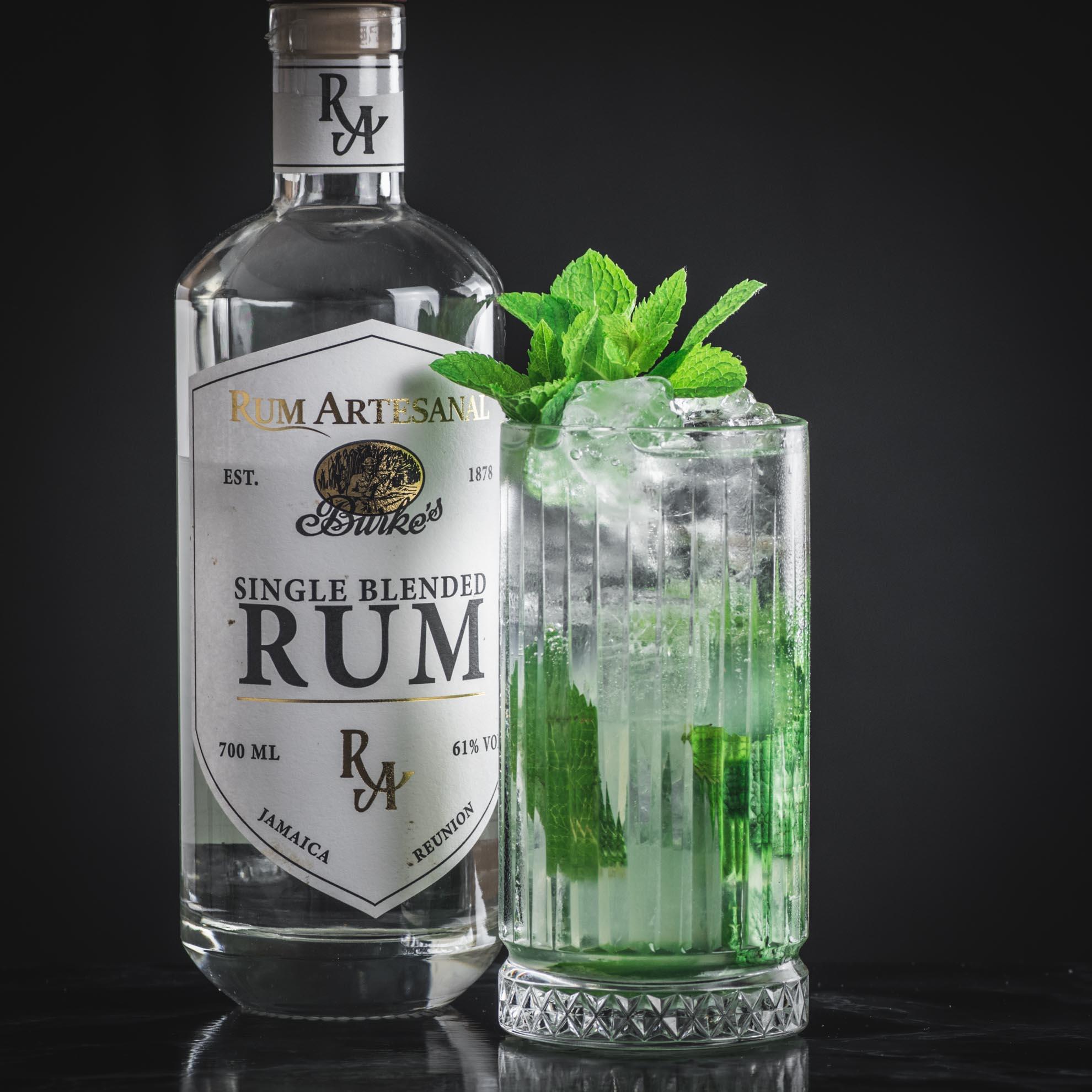 Burke's White Blended Rum im Mojito.