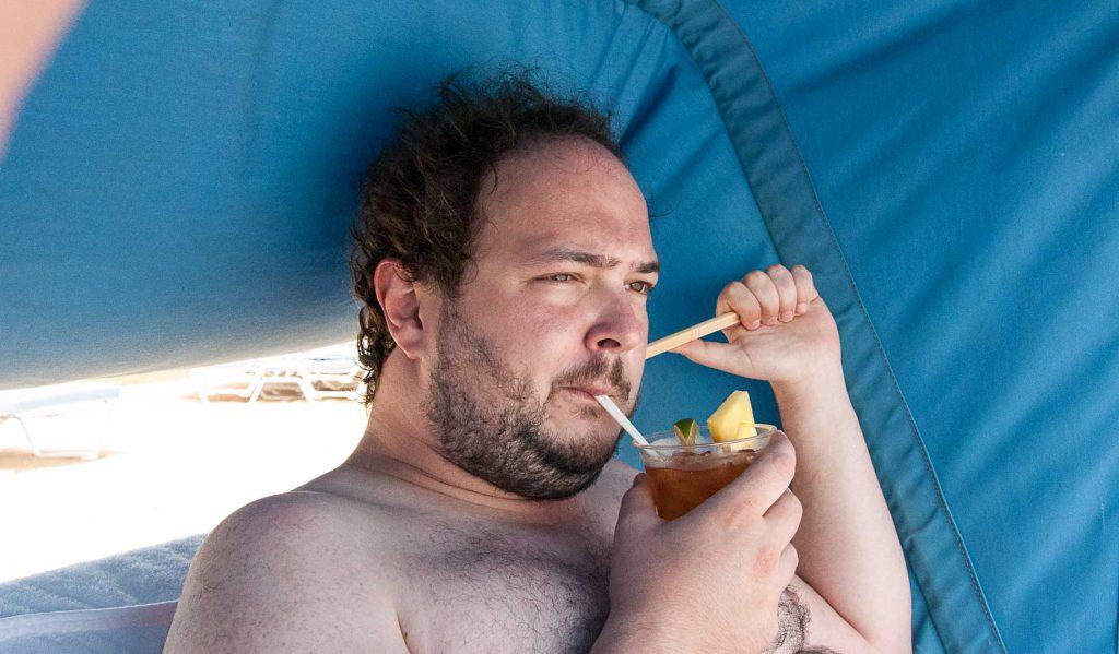 Johann im Urlaub auf Oahu bei seinem allerersten Tropical Itch.