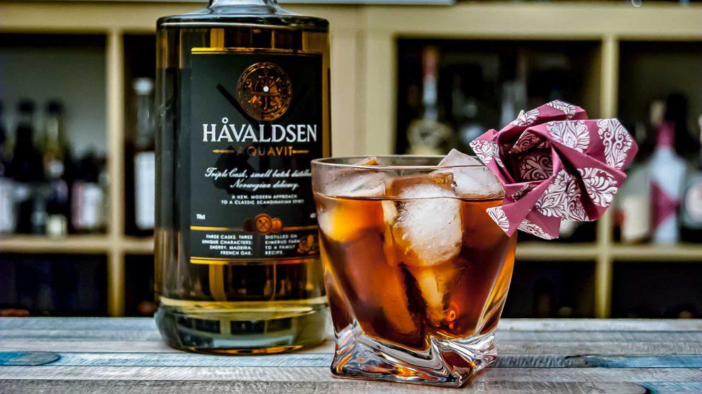 Havaldsen Aquavit in einer Variante des Trident Cocktails.