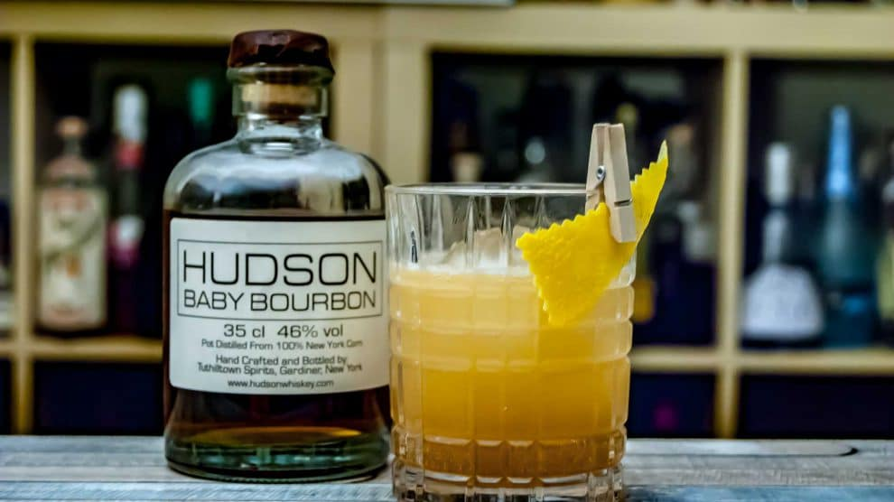 Hudson Baby Bourbon im Whiskey Sour.