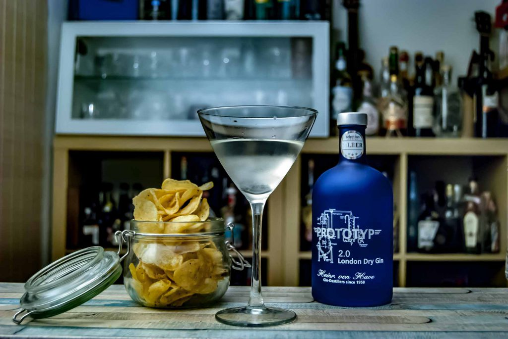 Heinrich von Have Prototyp 2.0 London Dry Gin in einem Martini.
