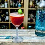 Huizache Tequila Blanco in einem Strawberry Margarita.