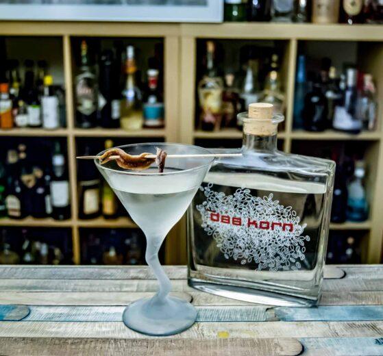 Das Korn in einem Hangman's Martini.
