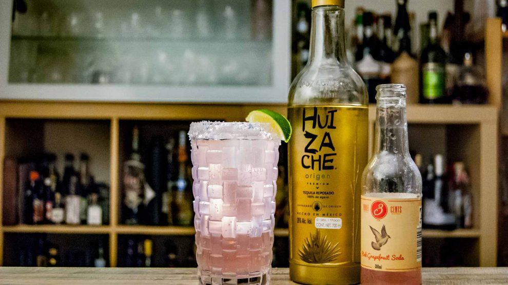 Der Tequila Huizache Origen in einer Paloma.