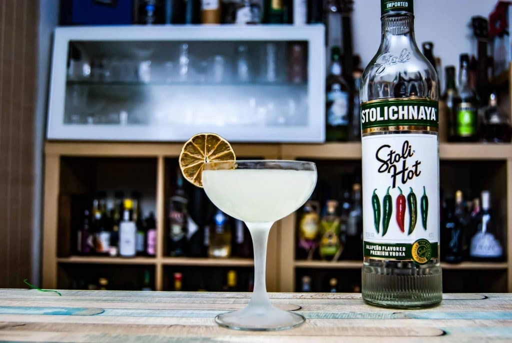 Stoli Hot in einer Jalapeno Vodkarita.