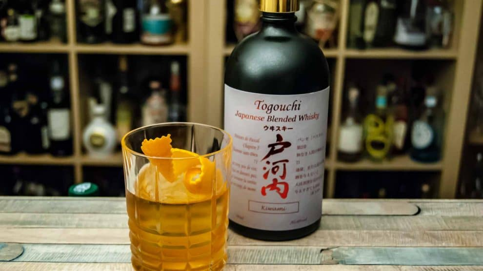 Togouchi Kiwami Japanese Blended Whisky in einem Old Fashioned.