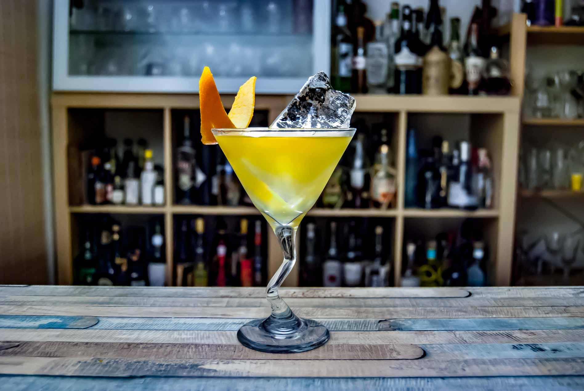 Der Frokost Cocktail ist eine Mischung aus Sweet-O und Last Word.
