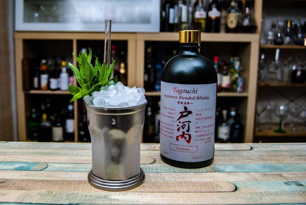 Togouchi Kiwami Japanese Blended Whisky in einem Mint Julep.