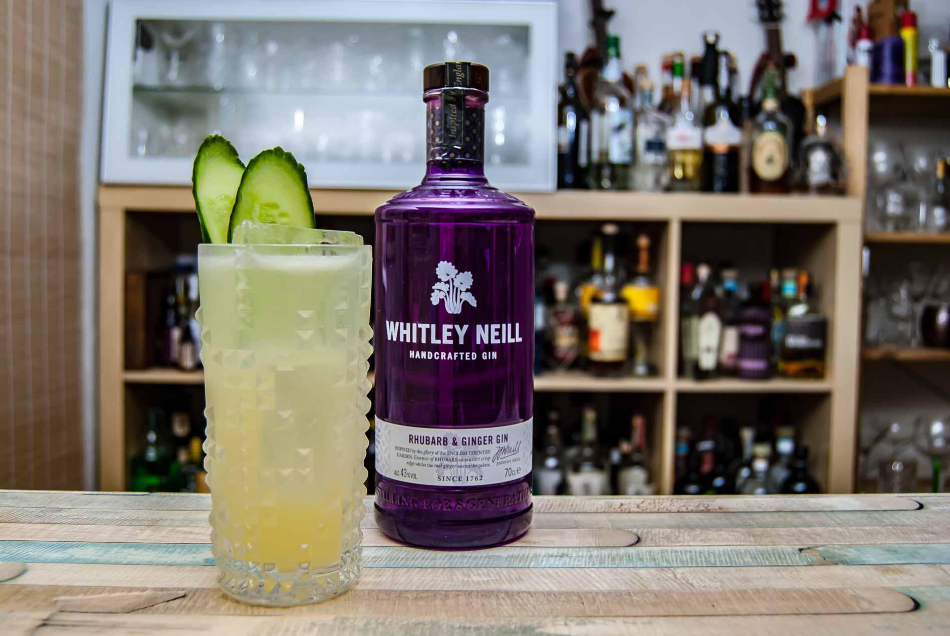 Der Whitley Neill Rhubarb & Ginger Gin in einem Le Gurk..