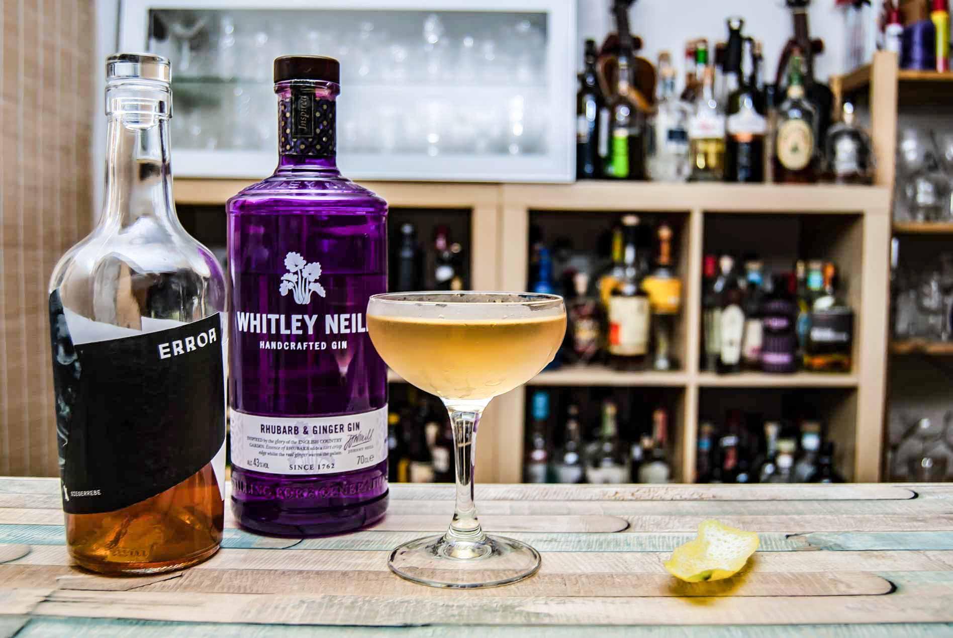 Der Whitley Neill Rhubarb & Ginger Gin in Kombi mit der Kernstein Siegerrebe - Craft trifft Flavoured.