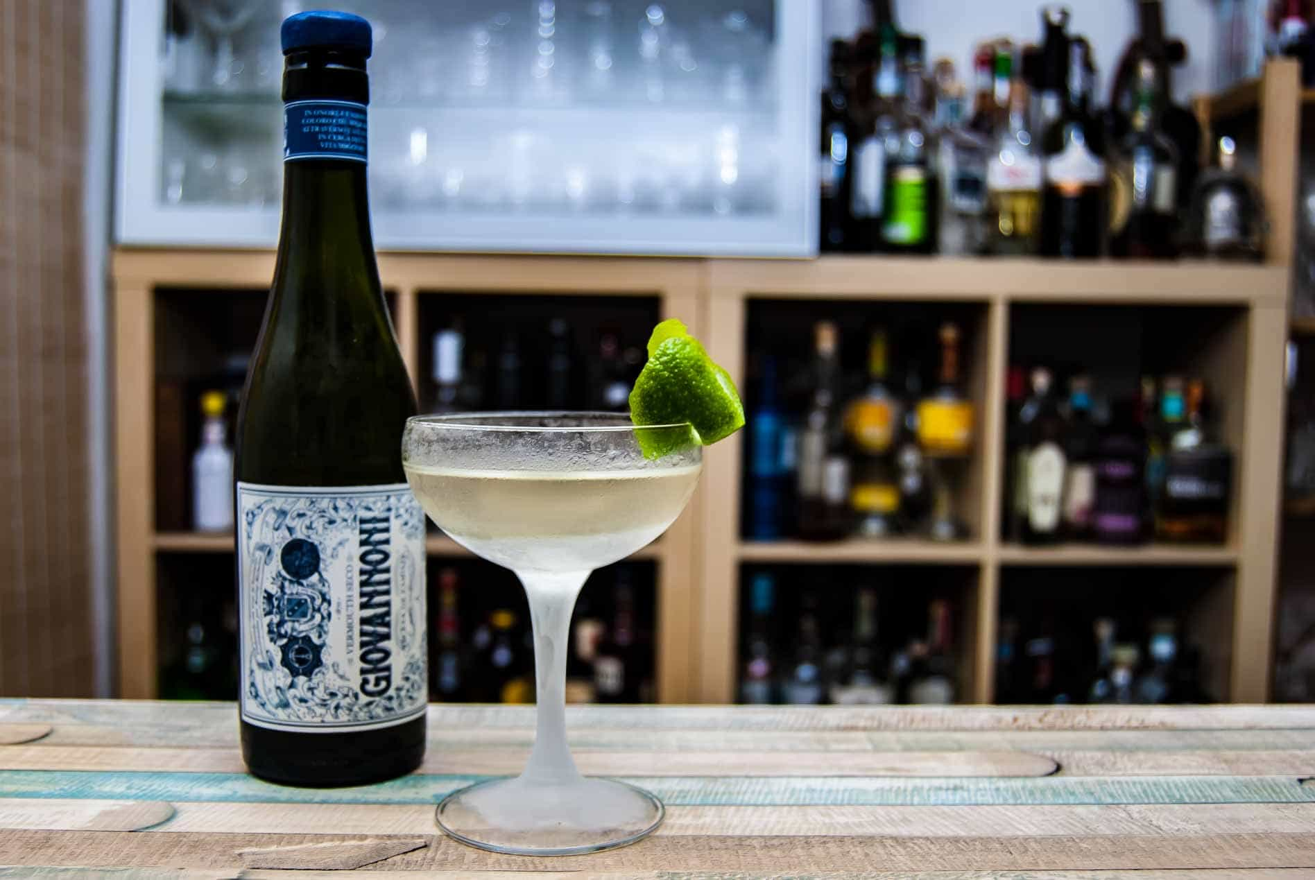 Giovannoni Vermouth Seco in einem Pisco Martini.