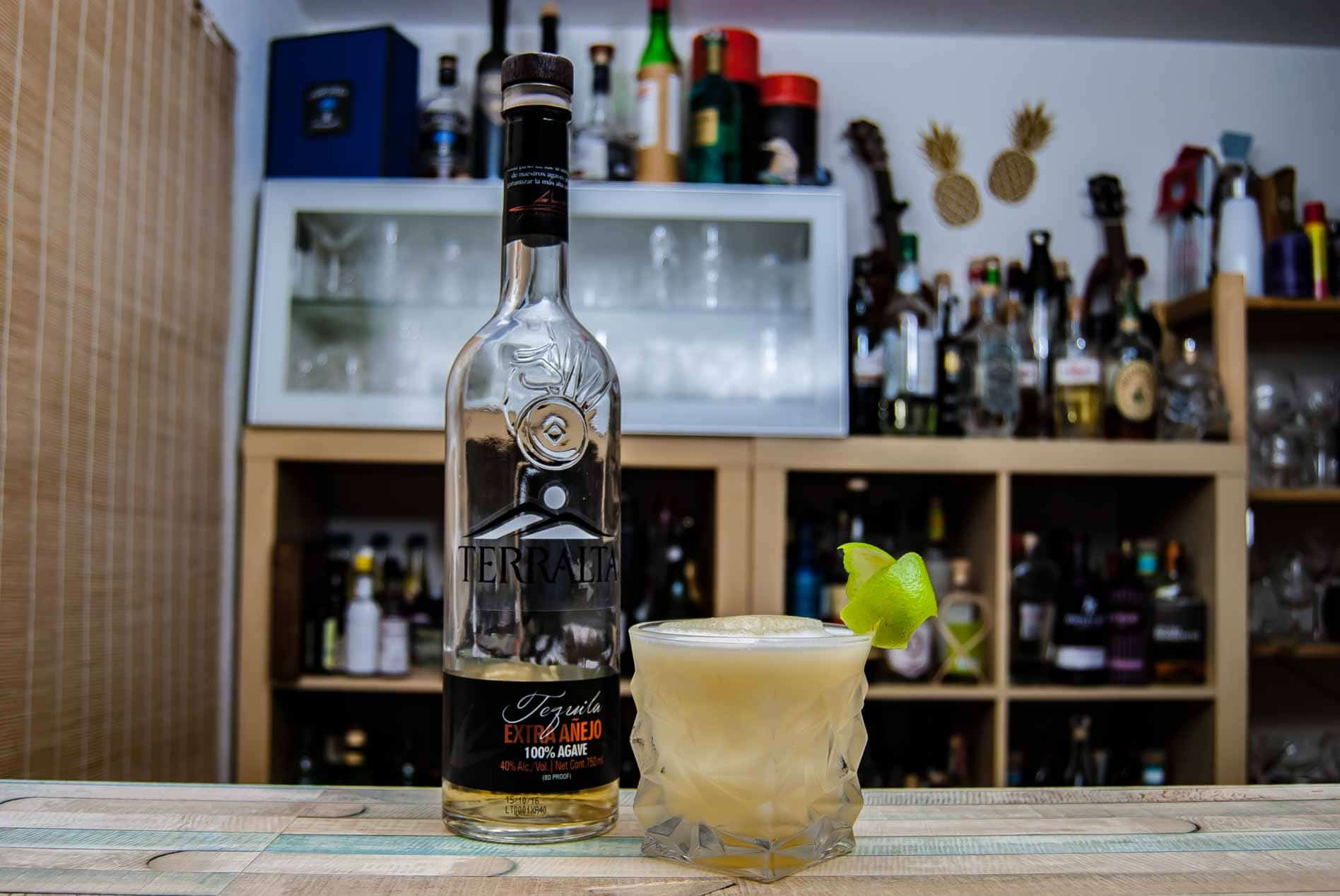 Terralta Tequila Extra Anejo in einer göttlichen Buttermilch Margarita.