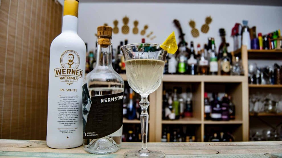 Werner Wermut White im Himbeer-Martini.