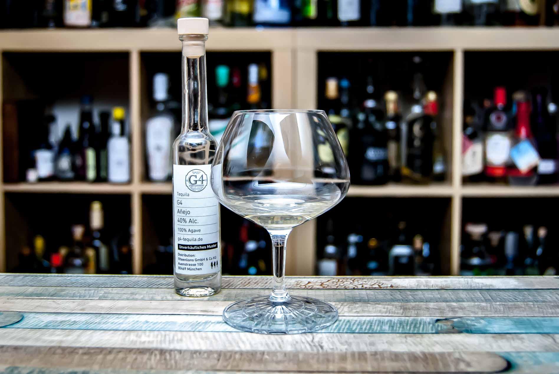 Wir verkosten den G4-Tequila Anejo.