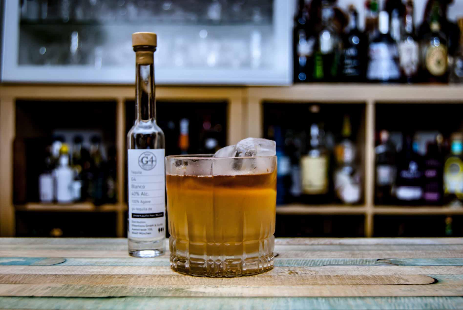 Der G4 Tequila Reposado in einem Horchata White Russian.