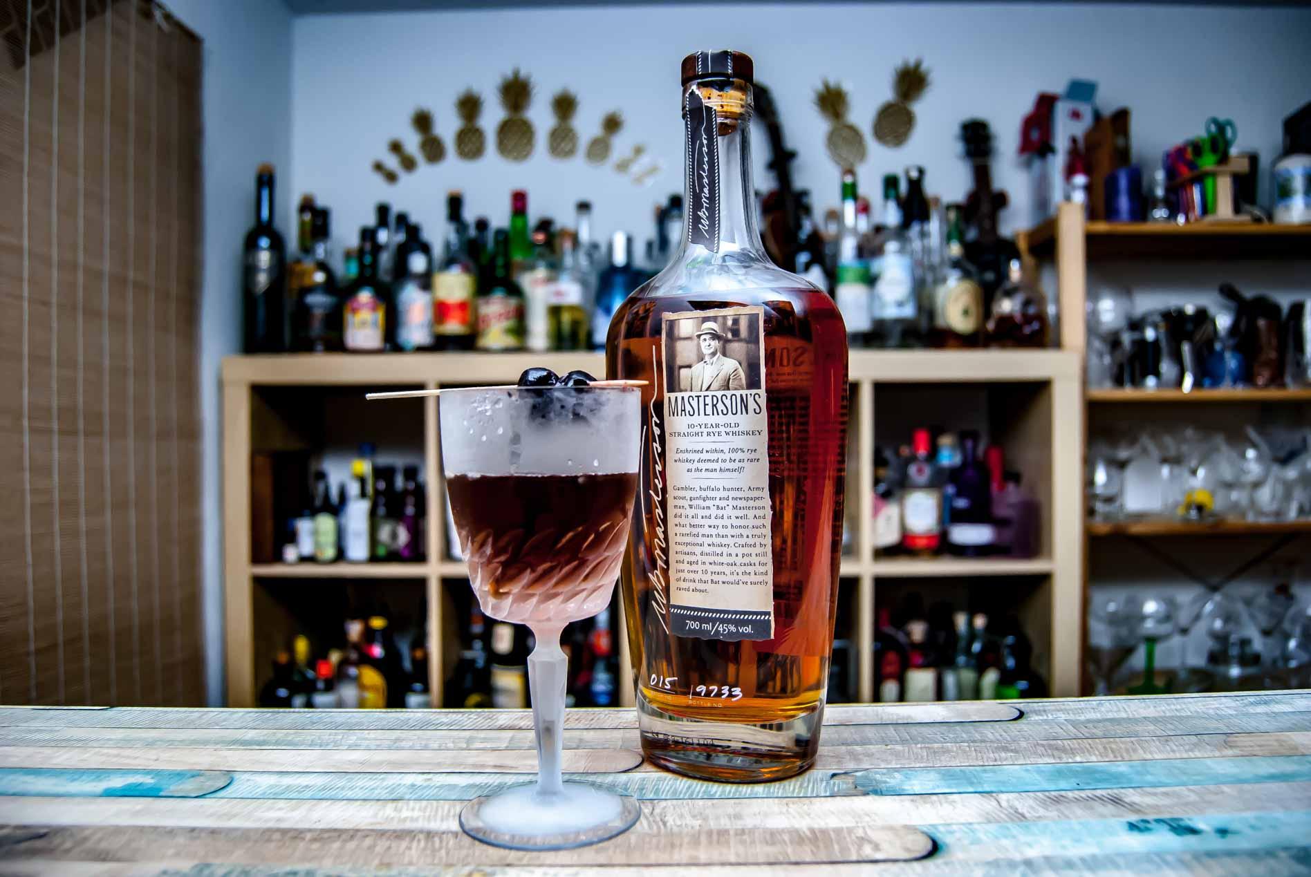 Masteron's Rye Whiskey im Manhattan.