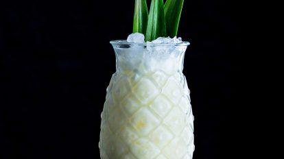 Eine Pina Colada mit Ananas und Cream of Coconut.